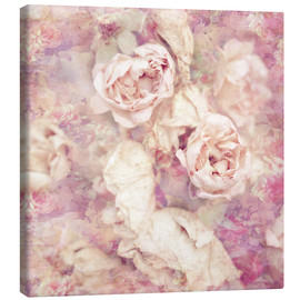 Canvas print  Faded roses - INA FineArt