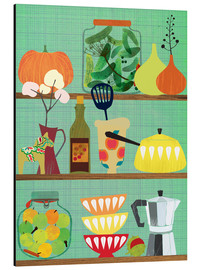 Aluminium print  Kitchen shelf 02 - Elisandra Sevenstar