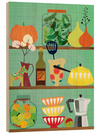 Wood print  Kitchen shelf 02 - Elisandra Sevenstar