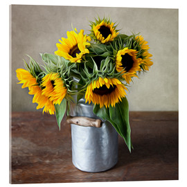 Acrylic glass  Sunflowers 01 - Nailia Schwarz