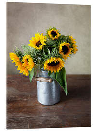 Acrylic glass  Sunflowers 02 - Nailia Schwarz