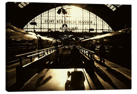Canvas print  Railway Station in Cologne - Die Farbenflüsterin