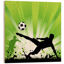 Wood print  Football Players - TAlex