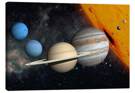 Canvas print  Planets and moons - Ron Miller
