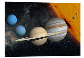 Foam board print  Planets and moons - Ron Miller