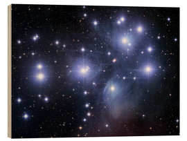 Wood print  The Pleiades - Robert Gendler