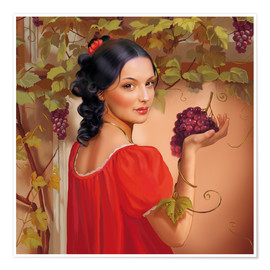 Premium poster  Red wine - Tanja Doronina