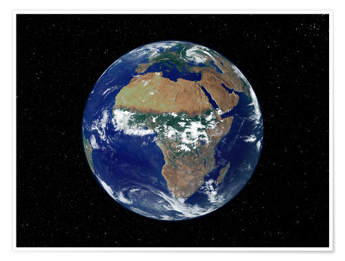 Premium poster Earth - Africa and Europe