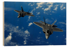 Wood print  F-22 Raptors - Stocktrek Images