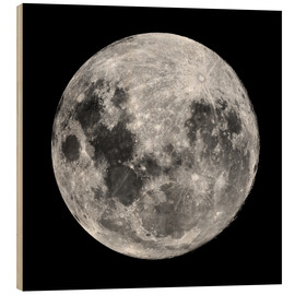 Wood print  Full Moon - Robert Gendler
