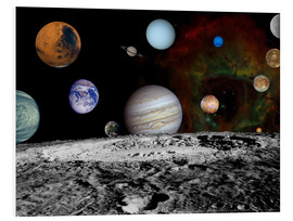Foam board print  Montage of the planets - Stocktrek Images