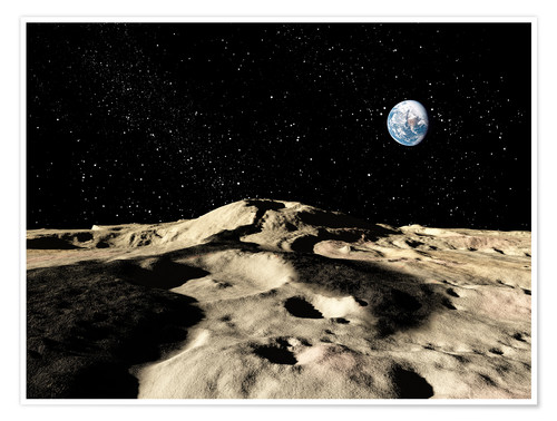 Premium poster An old lava flow on the earths moon