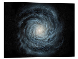 Foam board print  face-on view of the Milky Way - Ron Miller