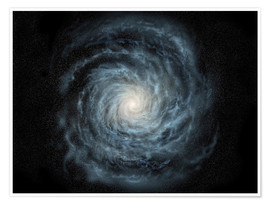 Premium poster  face-on view of the Milky Way - Ron Miller