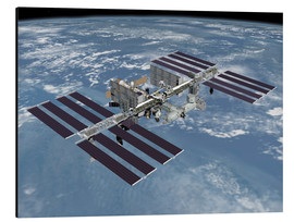 Aluminium print  International space station ISS - Stocktrek Images