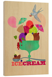 Wood print  Ice cream - Elisandra Sevenstar