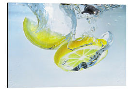 Aluminium print  lemon splash - Silvio Schoisswohl