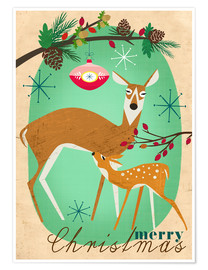 Premium poster Merry Christmas Deer