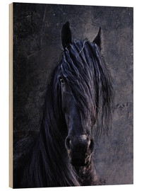Wood print  The Friesian - Joachim G. Pinkawa