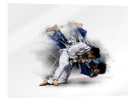 Acrylic glass  Judo - tom