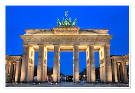 Premium poster Berlin Germany Brandenbug gate