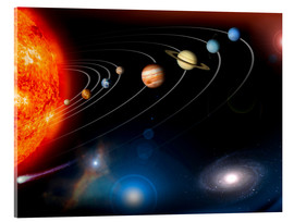Acrylic glass  Our Solar System - Stocktrek Images
