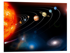 Foam board print  Our solar system - Stocktrek Images