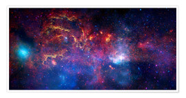 Premium poster  central region of the Milky Way galaxy