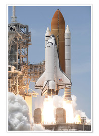 Premium poster  Atlantis Space shuttle - Stocktrek Images