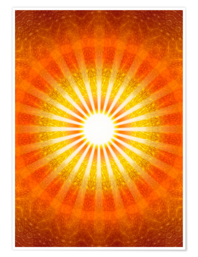 Premium poster Rays of hope - orange