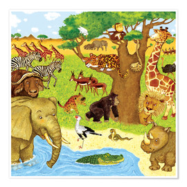 Premium poster Animals in Africa