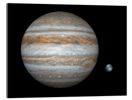 Acrylic print  gas giant Jupiter and Earth - Walter Myers