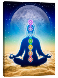 Canvas print  In Meditation With Chakras - Blue Moon Edition - Dirk Czarnota