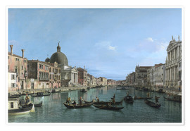 Premium poster Venice, The Grand Canal with Simeone Piccolo