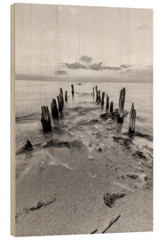 Wood print  Wooden bridge at the Beach - Dennis Stracke