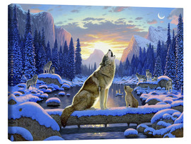Canvas  Wolf learns the howling - Chris Hiett