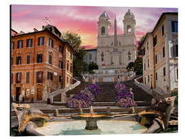 Aluminium print  Piazza Di Spagna with the Spanish Steps - Dominic Davison