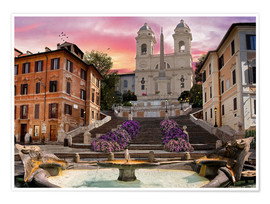 Premium poster  Piazza Di Spagna with the Spanish Steps - Dominic Davison