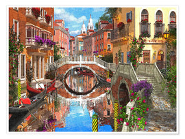 Poster Venetian Waterway