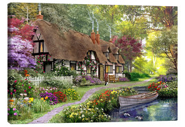 Canvas print  Woodland walk cottage - Dominic Davison