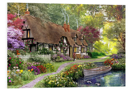 Foam board print  Woodland walk cottage - Dominic Davison