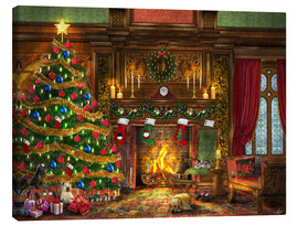 Canvas print  Festive Fireplace - Dominic Davison