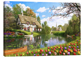 Canvas print  Lakeside Cottage - Dominic Davison