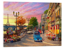 Acrylic print  Sunset on the Seine - Dominic Davison