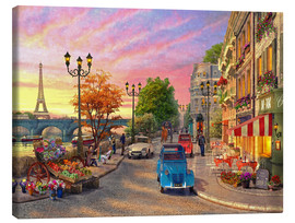 Canvas print  Sunset on the Seine - Dominic Davison
