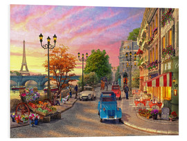 Foam board print  Sunset on the Seine - Dominic Davison