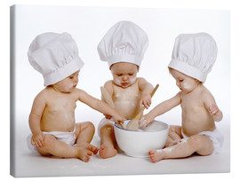 Canvas  Three baby cooks - Eva Freyss