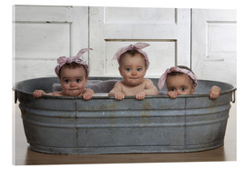Acrylic glass  Cheeky Bath Babies - Eva Freyss