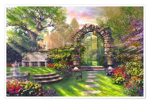 Premium poster The gate to the lost garden