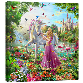 Canvas  Princess and the Unicorn - Adrian Chesterman
